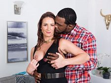 Ass-fucked by a bigger in size than standard, black cock