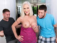 Classy Katia does two youthful studs